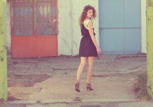 vestido simples elegante